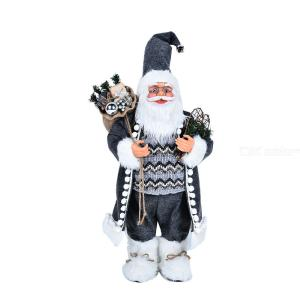 Standing Santa Claus Doll Innovative Christmas Figurine Figure Decoration Santa Claus Ornament For Home Mall Christmas Decor