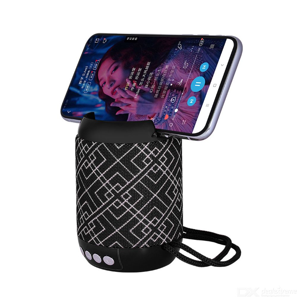 Wireless Bluetooth Speaker Portable Mini Cloth Fabric Woofer 3D Surround Sound Speaker Mobile Phone Holder Speaker