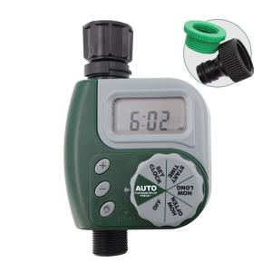 Garden Water Timers Electromagnetic Valve Automatic Watering Waterproof Impact-resistant Durable With Large Digital Display