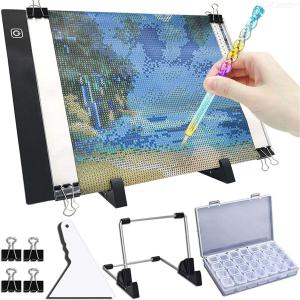 LED light emitting board drill A4 diamond drawing tool DIY decorative painting point drill pen tool