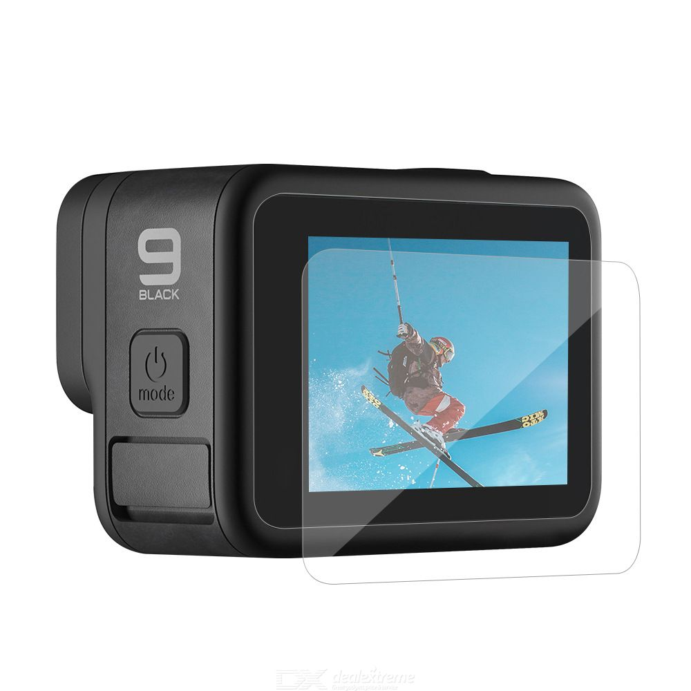 TELESIN GP-FLM-901 1pcs Tempered Film Front/rear Display Tempered Film Lens Tempered Film For GOPRO Hero 9 Action Camera