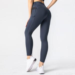 Quick Drying Yoga Pants Buttocks Lifting Pants With Pocket Slim Sport Pants High-rise Fitness Pants Elastic Waist Legging Pants