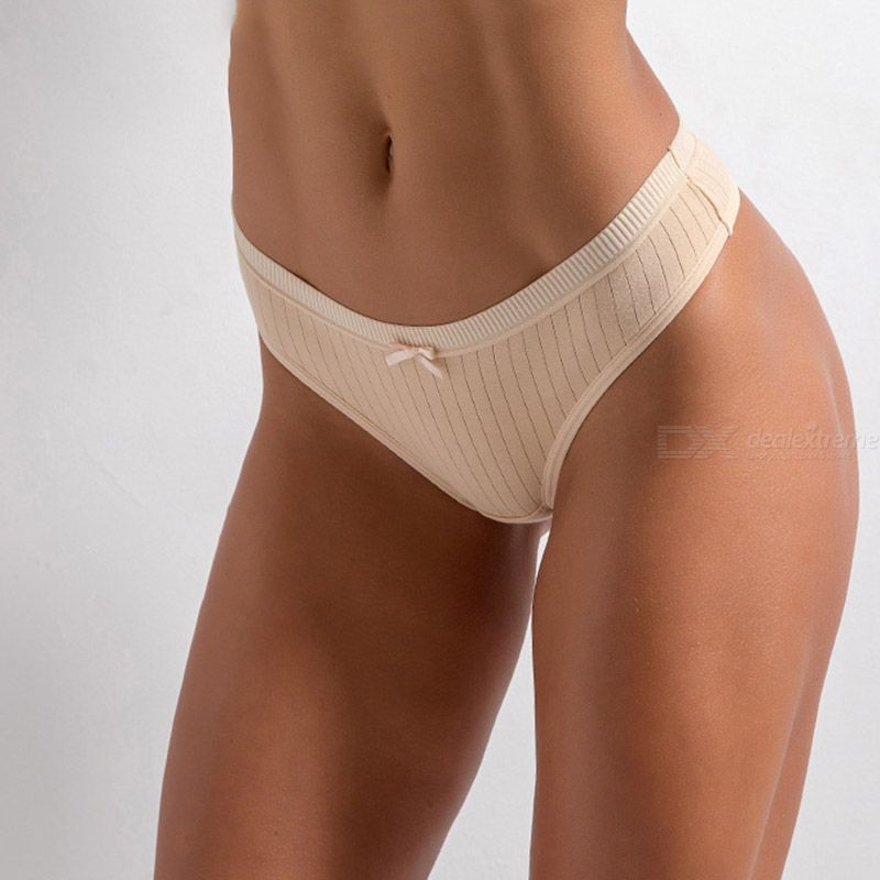 Spiral Pattern Briefs For Women Sexy Bow-knot Hipster Seamless Sport Panties Breathable Cotton Panty Low-rise Solid Color Briefs