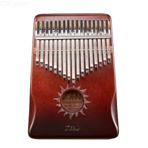 17-key kalimba, thumb piano, mahogany wood body, musical instrument with instruction book and tuner for prin