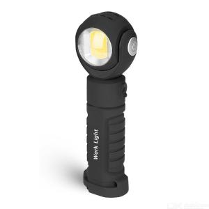 2000 LM 360 degree adjustable flashlight with magnetic cob working lamp maintenance lamp LED emergency light