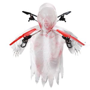 JJRC 1031 Drone Skull Shape Spooky Lights Halloween Scary Tricky Toy Drop Resistance Foldable With Light Control Function