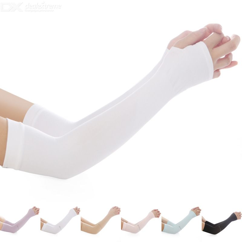 Ice Silk Arm Warmers Sunscreen Sleeves Anti-UV Protective Sleeves Driving Sports Arm Sleeves