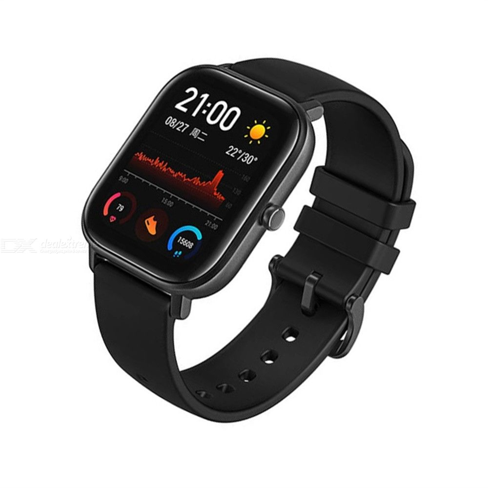 Global Version Amazfit GTS Smart Watch 5ATM Waterproof 12 Sports Modes 14-day Battery Life GPS Music Control Silicon Strap