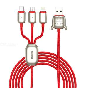 Baseus Ox Year Zodiac Data Cable One With Three Ladder Design Anti-scratch 480Mbps USB Interface For Micro/iP/Type-C