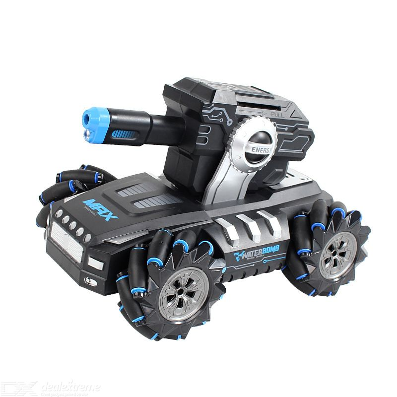 Remote Control Tank Car Launch Water Bomb Armored Vehicle Model Watch Sensor 360-degree Rotation 2.4G Remote Control For Kids