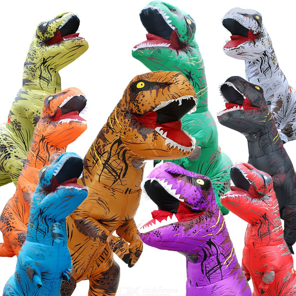 Inflatable | Halloween | Dinosaur | Jumpsuit | Holiday | Costume | T-Rex | Party | Dress | Suit | Up