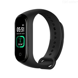 M4 Pro Slimme Band Thermometer Nieuwe M4 Band Fitness Tracker Hartslag Bloeddruk Fitness Armband Slimme Horloge Voor Android IOS