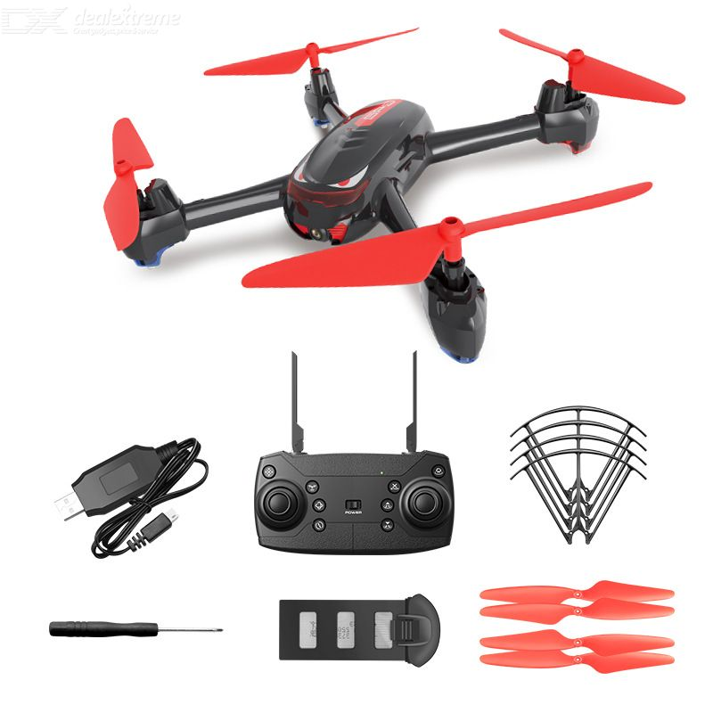 SH2 Foldable Drone Portable GPS 1080P HD Camera 2.4G Remote Control Smart Follow With LED Light Single Electric Version