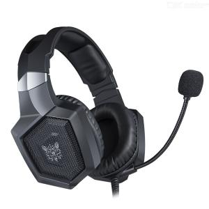 ONIKUMA K8 Headphone Wired 3.5mm Interface Noise Reduction All-inclusive Earmuffs Two-way Adjustable Head Beam