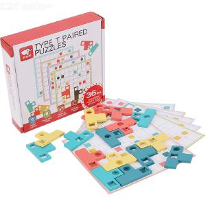Type T Paired Puzzles Matching Board Game Logic Thinking Development Toys For Children Intellectual Toys Kids Gifts