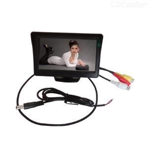 4.3inch Car Monitors LCD Screen HD Digital Display Two Video Inputs NTSC/PAL Dual System With Automatic Switching Function