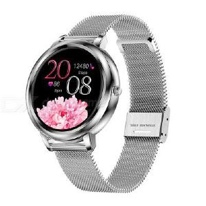 MK20  Color Screen Smart Bracelet Fashion Round Dial Watch Bluetooth Sports Watch Message Reminder Full Screen Touch