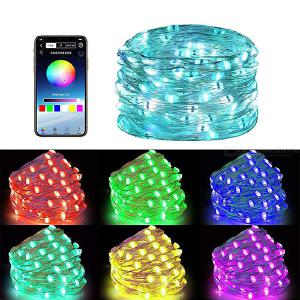 LED String Light Smart Bluetooth Decorative Waterproof RGB 29 Different Dynamic Modes 10/15/20M With Music