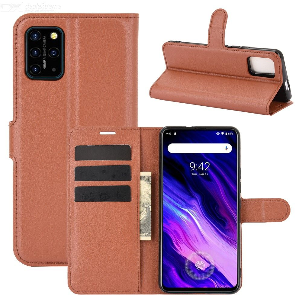 CHUMDIY Double Buckle PU Leather Phone Wallet Case with Stand for UMIDIGI S5 Pro
