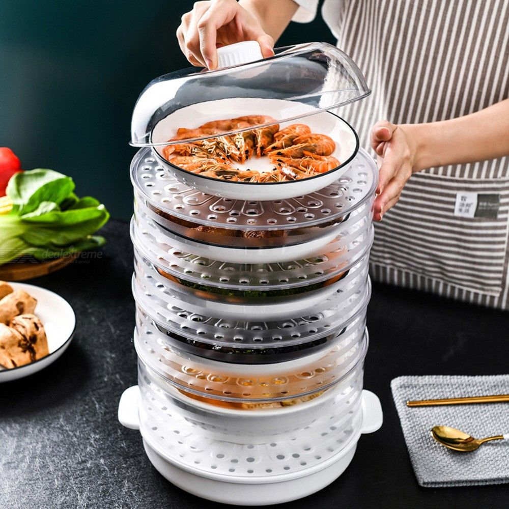 Stackable Food Insulation Cover Refrigerator Meal Cover Dining Table Dustproof Anti-mosquito Food Cover Leftover Food Cover