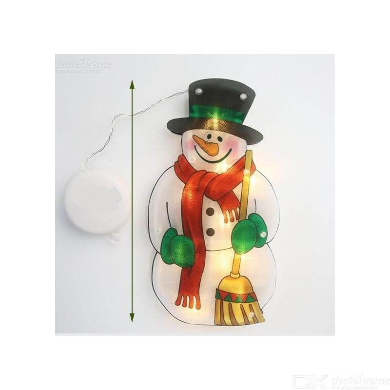 Christmas Decorative LED Lights Snowman Santa Claus Reindeer Suction Cup Lights Holiday Decorations