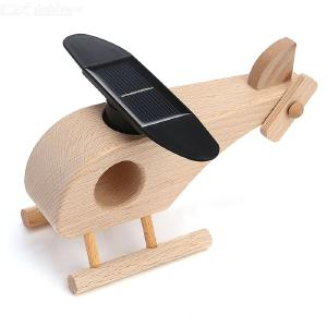 DIY Wooden Puzzles 3D Helicopter Toy Solar Plane Model Log Helicopter Toys Gifts For Children