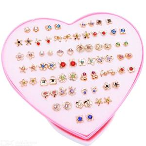 Cute Anti-allergy Stud Earrings Set Boxed Earrings For Girls  Heart Box Earrings Elegant Fashion Stud Earrings Jewelry Gift