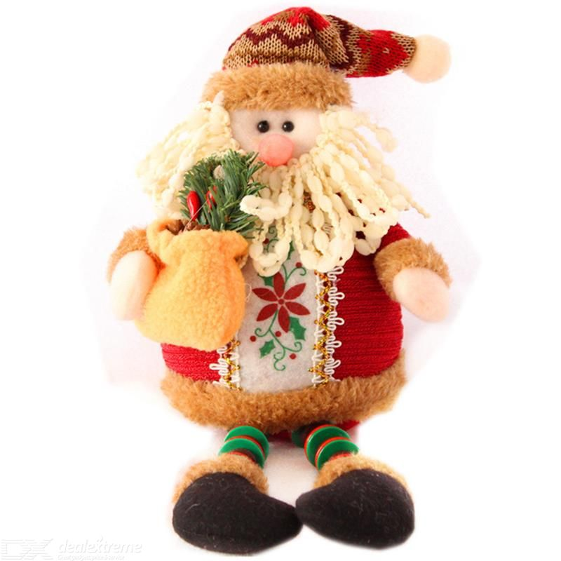 Christmas Sitting Dolls Plush Santa Claus Snowman Reindeer Ornament Long Legs Table Fireplace Christmas Figurines Christmas Doll