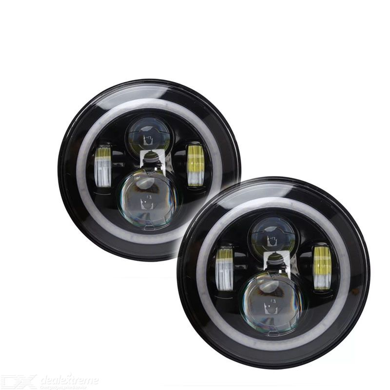 7inch Motorcycle Lights LED Angel Eyes With Aperture With Aperture 600LM 40W
