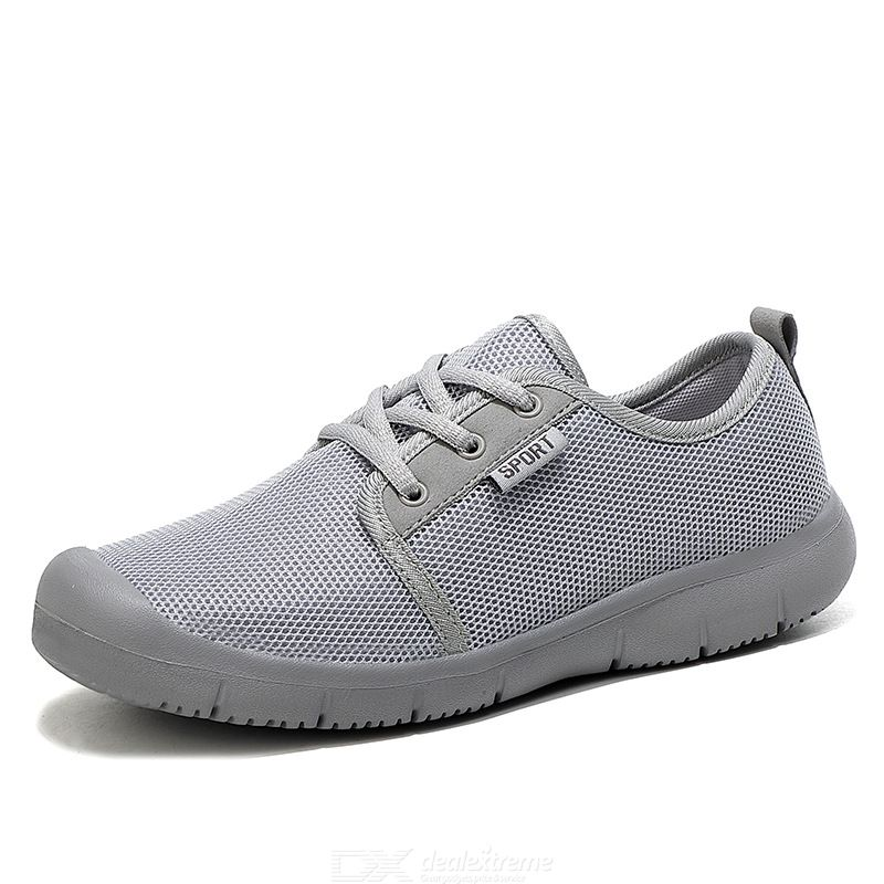 Flat-bottomed Casual Sneakers One-step Mesh Shoes Breathable Mesh Travel Shoes