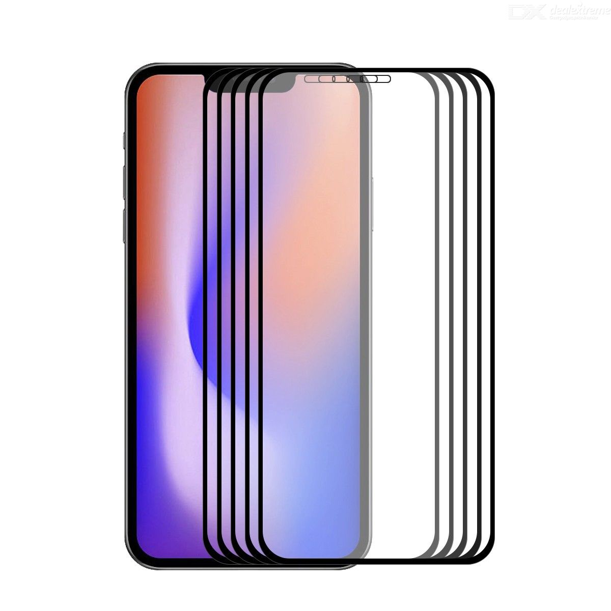 5 PCS ENKAY Hat-Prince Full Glue For iPhone 12 Pro / 12 Max 6.1 0.26mm 9H 2.5D Tempered Glass Full Coverage Film