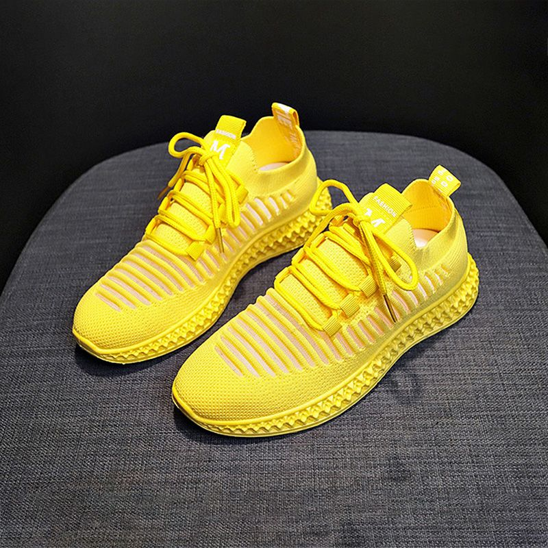 Breathable Sneakers Flying Woven Running Shoes Casual Mesh Shoes For Women