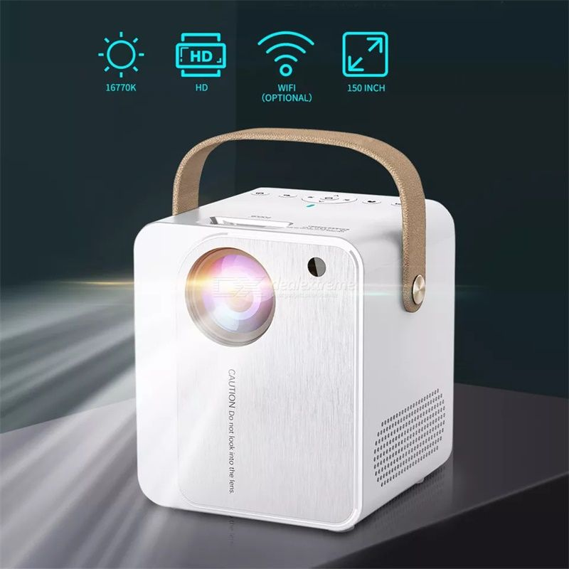 YJMOYE YJ350 Projectors 1080P HD 100ANSI Lumens LED Lamp Built-in Speakers Multimedia Version