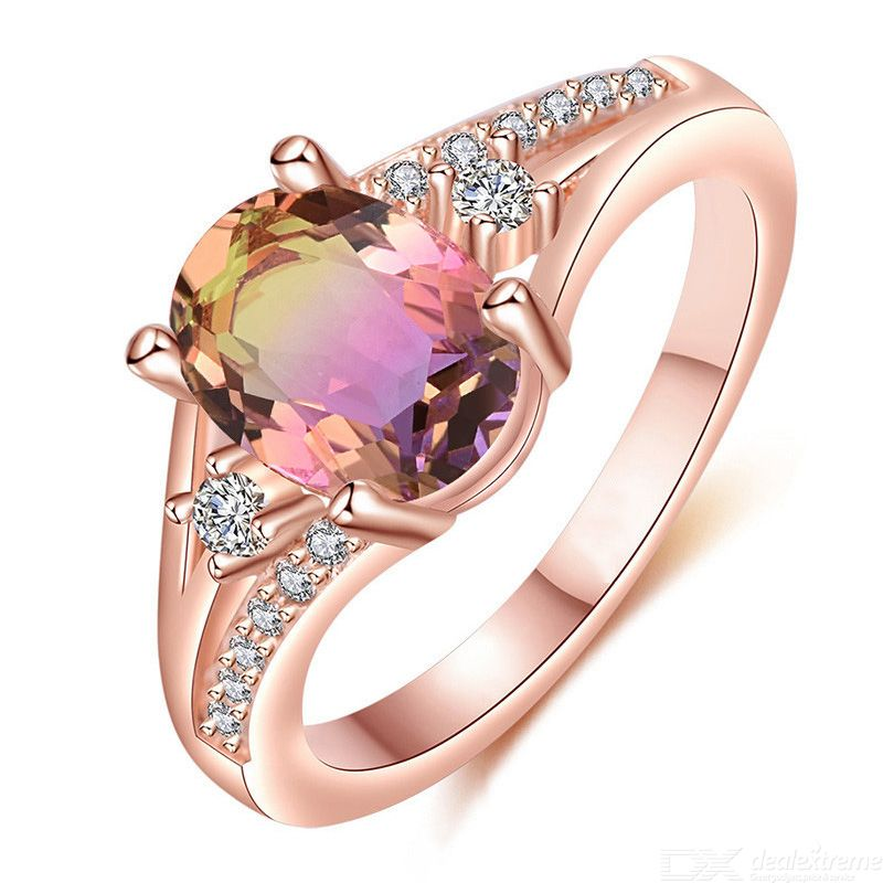 Electroplated Rose Gold Ring Diamond Ring Popular Fashion Finger Ring For Women