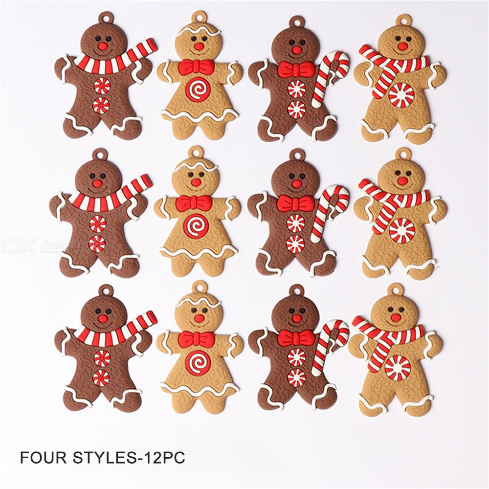 Gingerbread Man Christmas Decorations Christmas Ornaments Gingerbread Man Pendant Festive Party Supplies