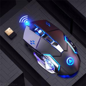 Yindiao A4 Wireless Gaming Mouse Rechargeable Mouse Electroplating Mouse With Light Effects Professional Game Mouse
