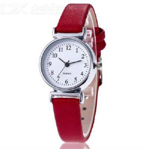 HUANS Quartz Watch Leather Strap Stainless Steel Buckle For Women
