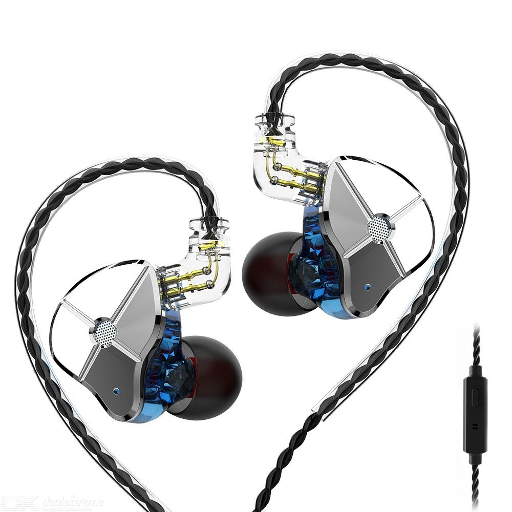 TRN ST1 in-ear headphones HIFI hanging ear running ring iron subwoofer mobile phone wire control music with wheat headphones