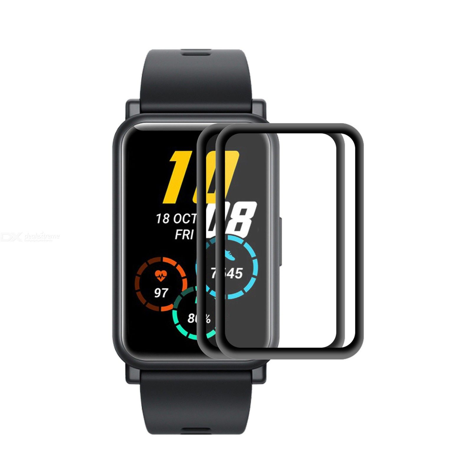 2 PCS For Huawei Honor Watch ES ENKAY Hat-Prince 3D Full Screen Soft PC Edge + PMMA HD Screen Protector Film