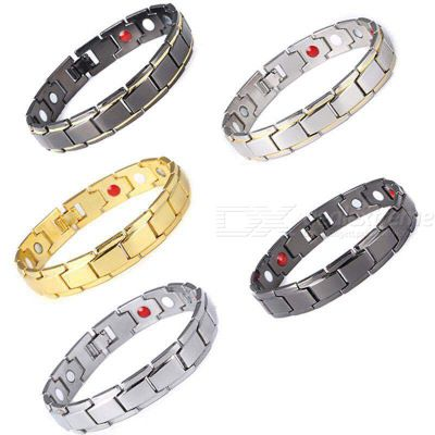 Titanium Steel Magnetic Therapy Bracelet For Men Health Bangles Blood Circulation Improving Bracelet Health Care Jewelry
