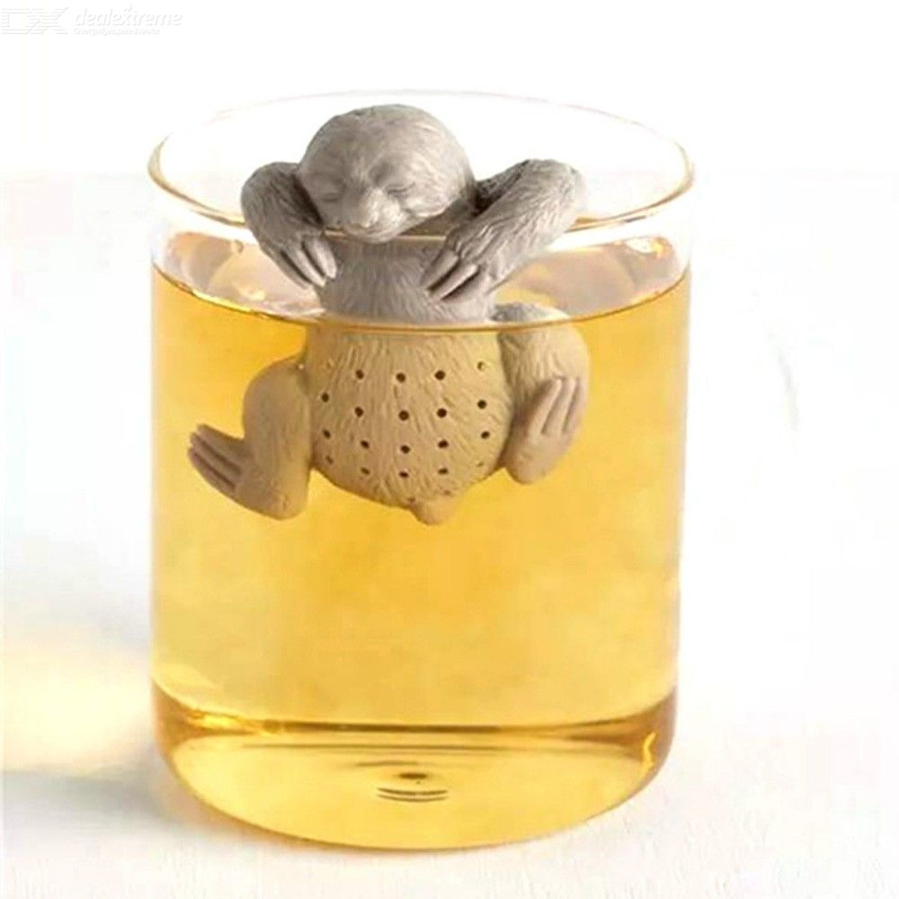 Food Grade Silicone Tea Infuser Creative Safety Tea Bag Filter Tea Strainer for Tea Pot Cup Use Cute People Shape