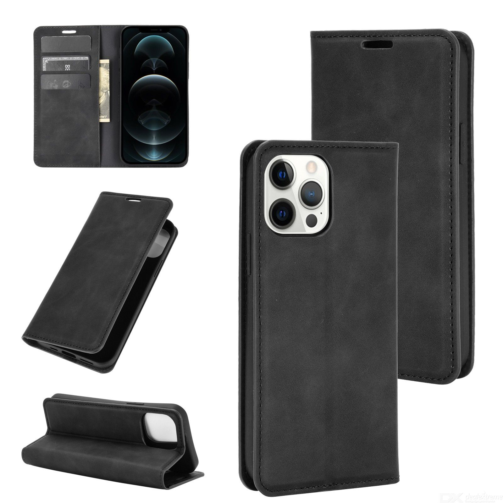 CHUMDIY Luxury PU Leather Wallet Case with Magnetic Closure for iPhone 12 Pro