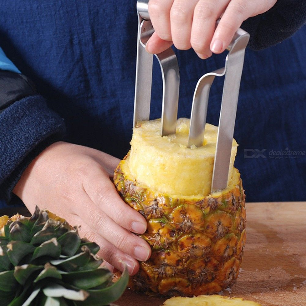 Practical Stainless Steel Pineapple Corer Slicer Cutter Peeler Ring Wedge Fruit Cutting Slicing Coring Knife