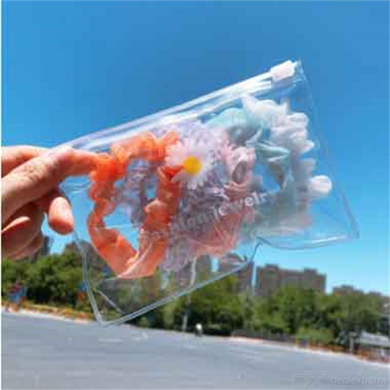 5 Pieces Creamy Ice Cream Color Head Rope Snow Yarn Large Intestine Ring Hair Accessories Organza Hair Ring