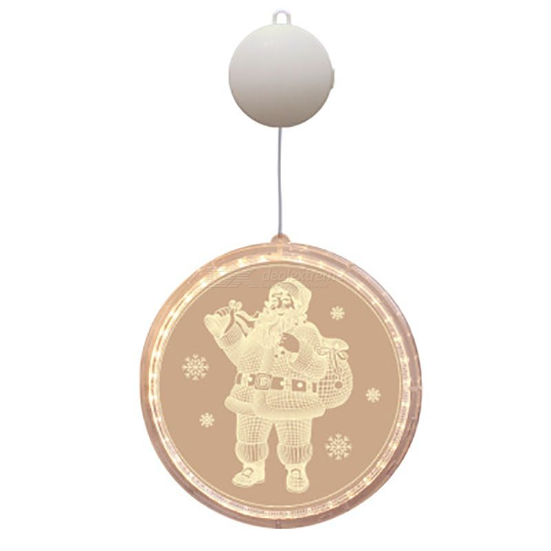 3D Christmas Hanging Lights Window Christmas Lanterns Decorative Novelty Lights With Double Sided With Suction Cup