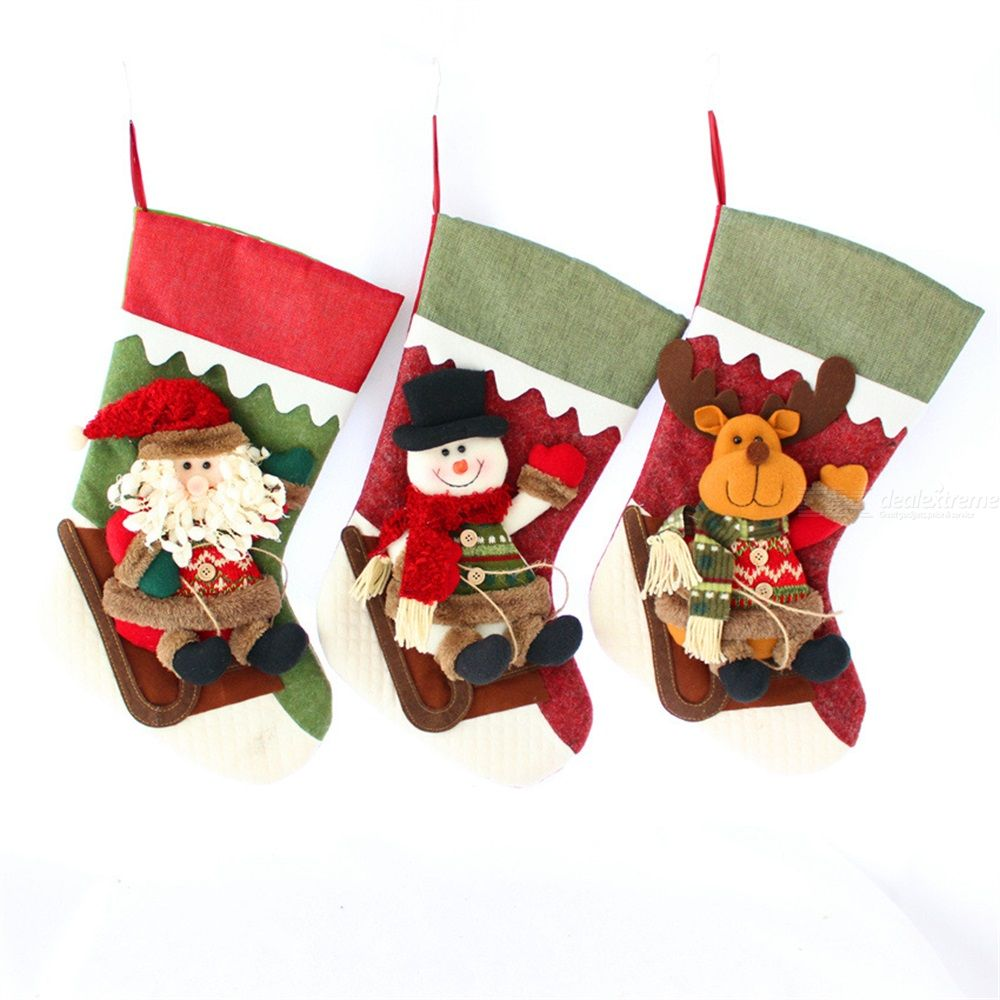 Christmas Decoration Socks Christmas Gift Socks Pendant Christmas Socks Decoration Old Man Snowman Deer Socks Decoration