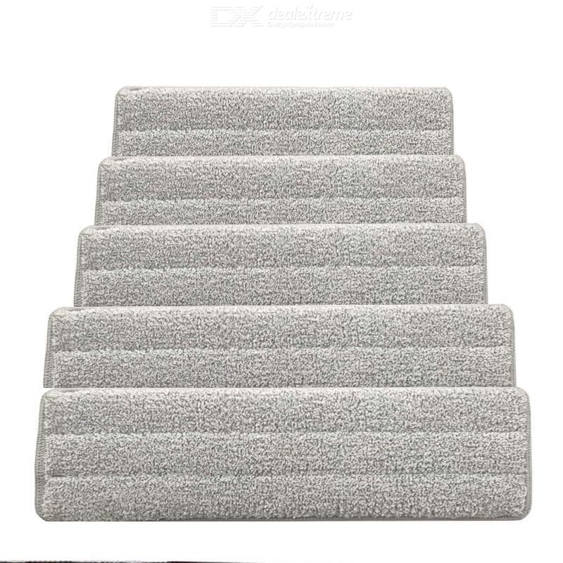 5 Pcs Replacement Mop Pads Microfiber Cleaning Pads Double Snap-type Mop Head