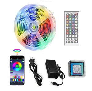 One meter 30 LED lights with 5050RGB low voltage suit light strip single roll 5m Bluetooth music suit light belt