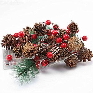 Christmas Pine Cone Light String Pine Needle Light String LED Copper Wire Lamp Decorative Lantern