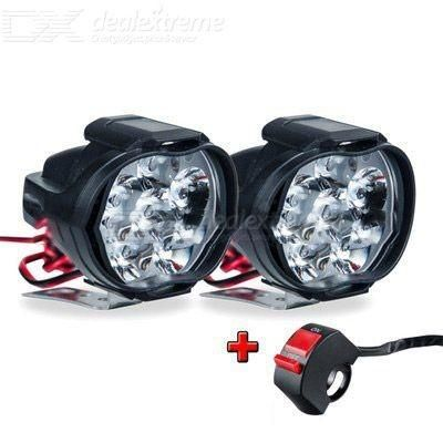 MK-351 6 LED Motorcycle Headlight Set 10W 1000LM Waterproof With Switch